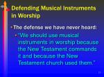 defending musical instruments in worship22