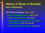 history of music in worship new testament