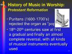 history of music in worship protestant reformation14