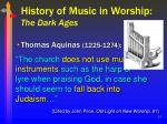 history of music in worship the dark ages12
