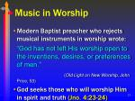 music in worship