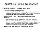 aristotle s critical responses24
