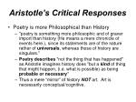 aristotle s critical responses31