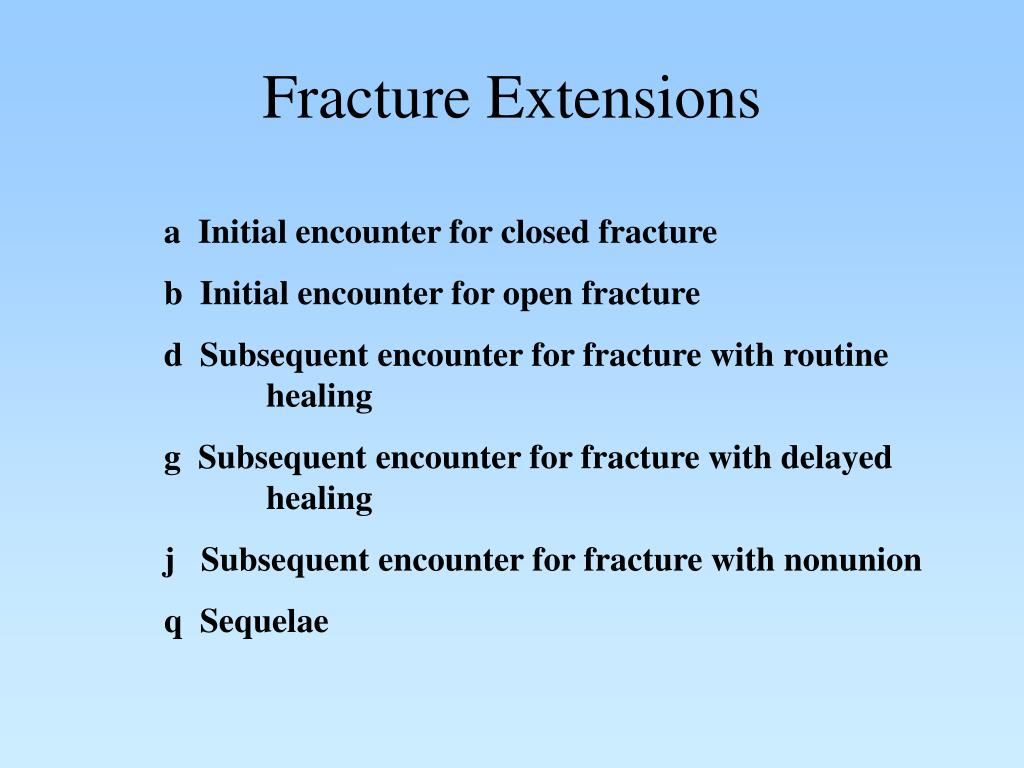 Fracture Extensions