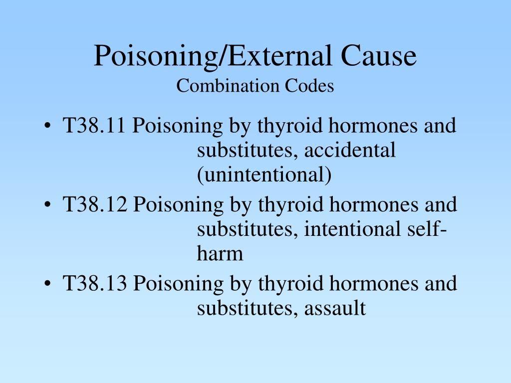 Poisoning/External Cause