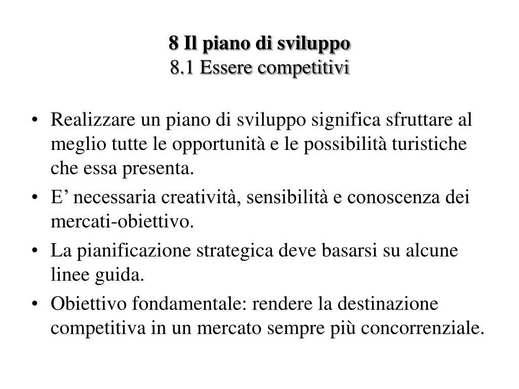 8 Il piano di sviluppo