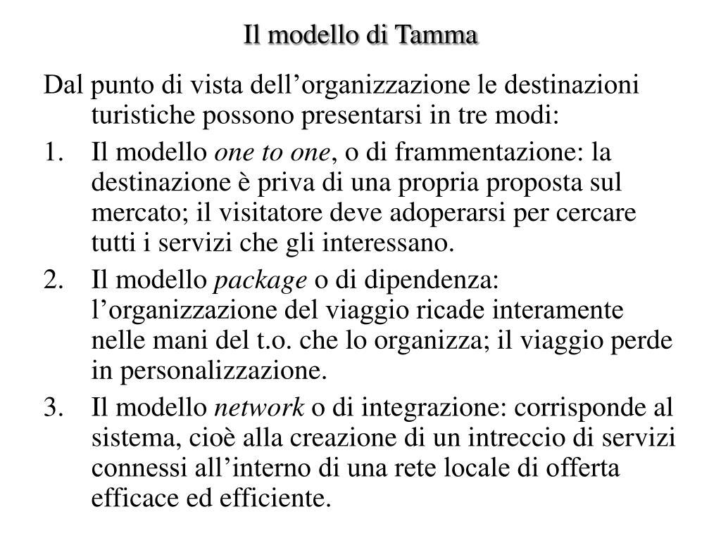 Il modello di Tamma