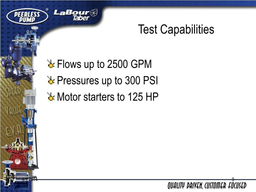 Test Capabilities
