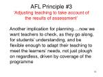 afl principle 3 adjusting teaching to take account of the results of assessment