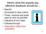 here s what the experts say effective feedback should be