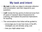 my task and intent