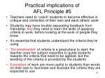 practical implications of afl principle 5