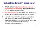 school leaders 2 nd discussion