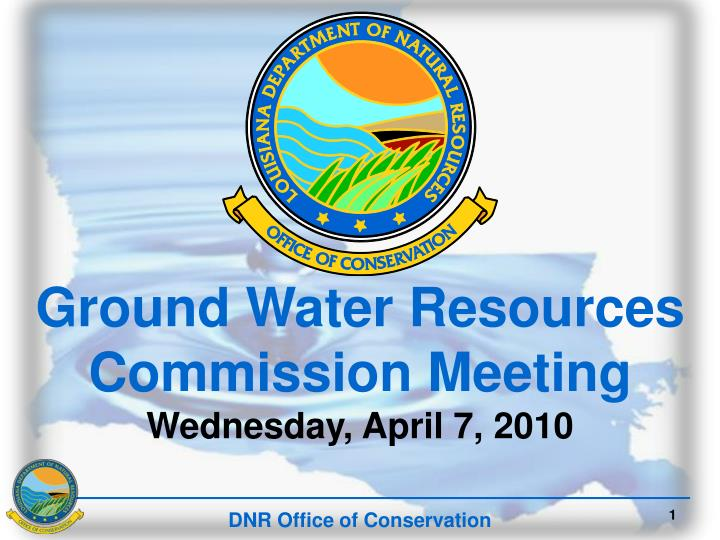Ground Water Resources Commission Meeting