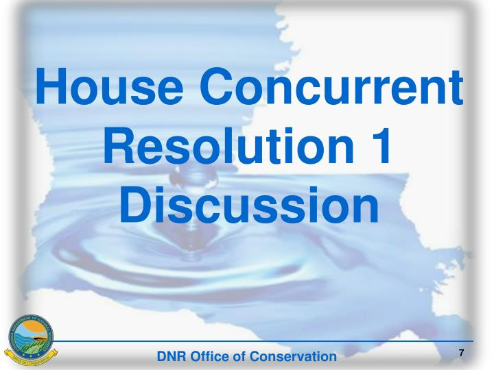 House Concurrent Resolution 1 Discussion