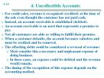 4 uncollectible accounts