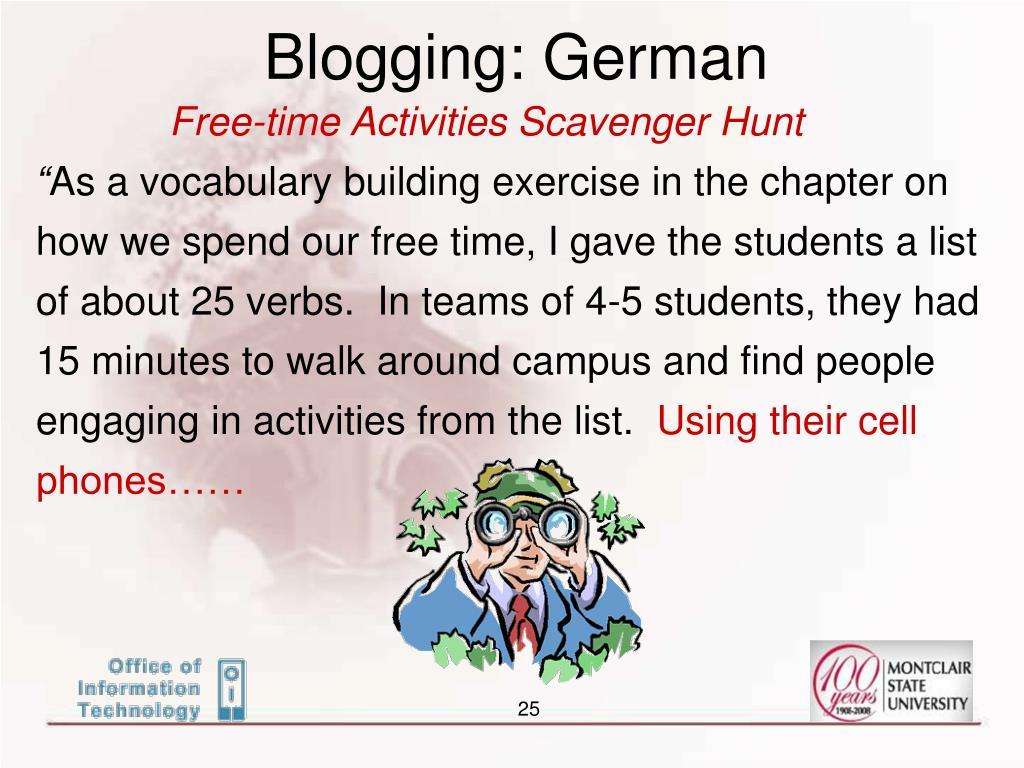 Blogging: German