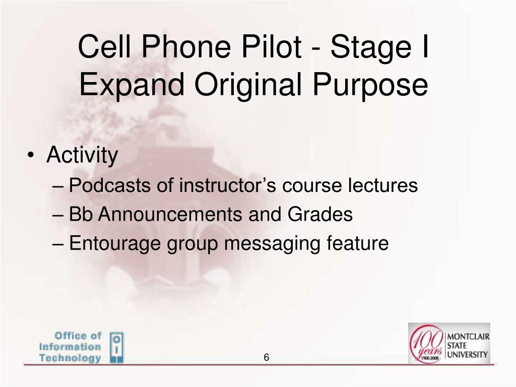 Cell Phone Pilot - Stage I