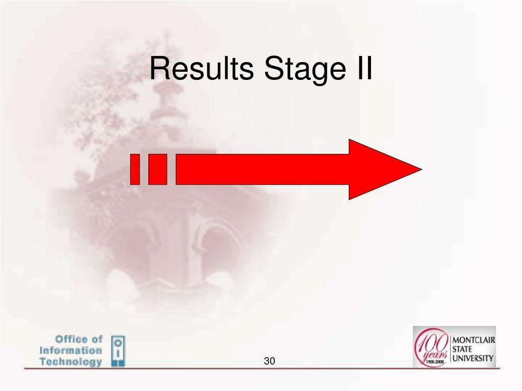 Results Stage II