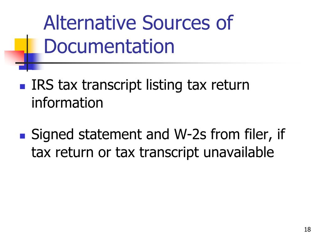 Alternative Sources of Documentation