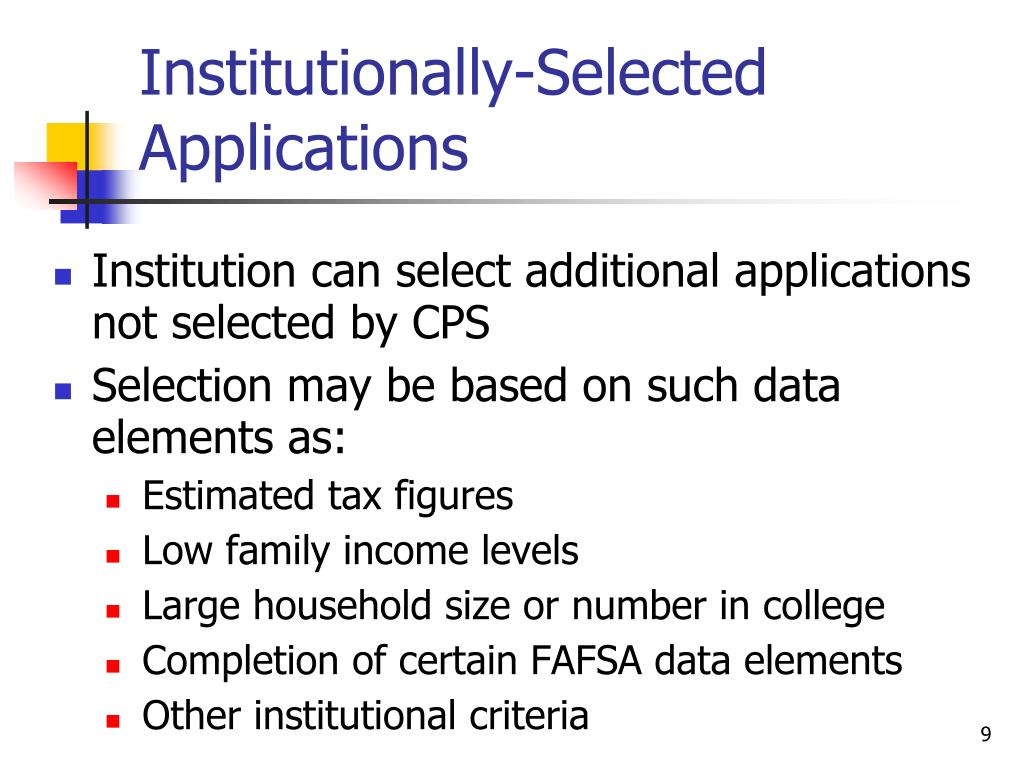 Institutionally-Selected Applications