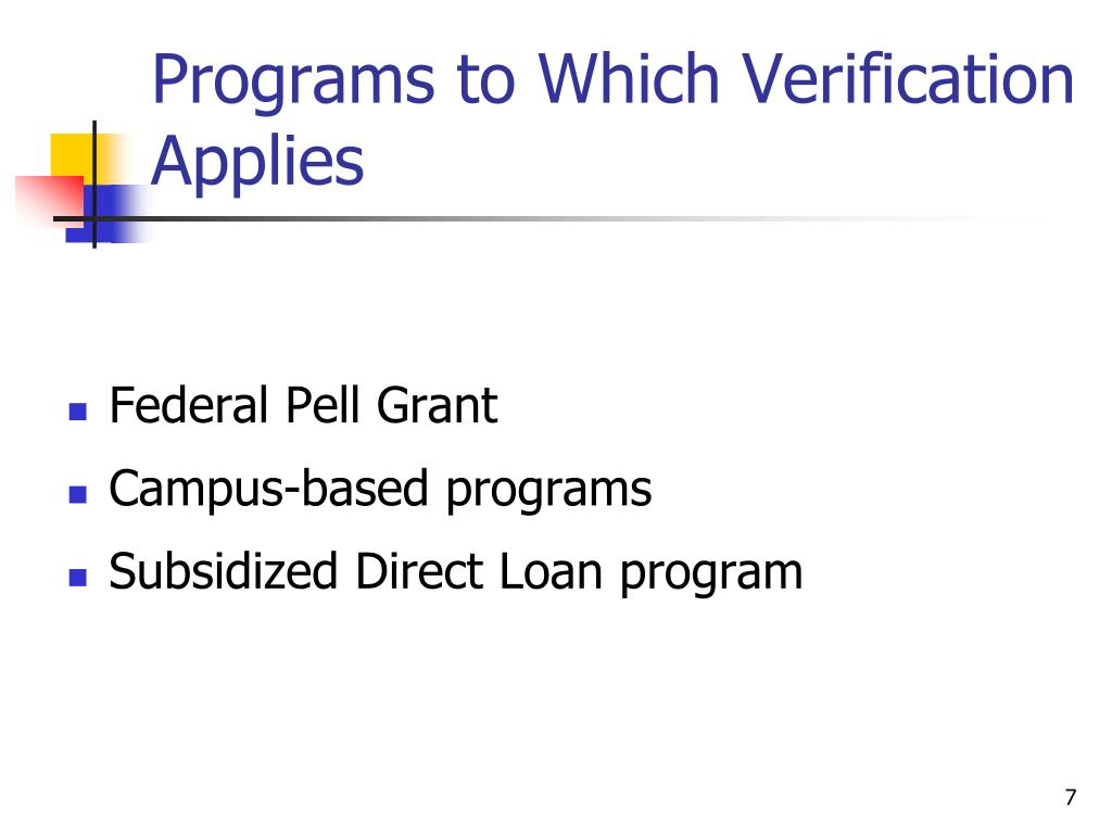Programs to Which Verification Applies