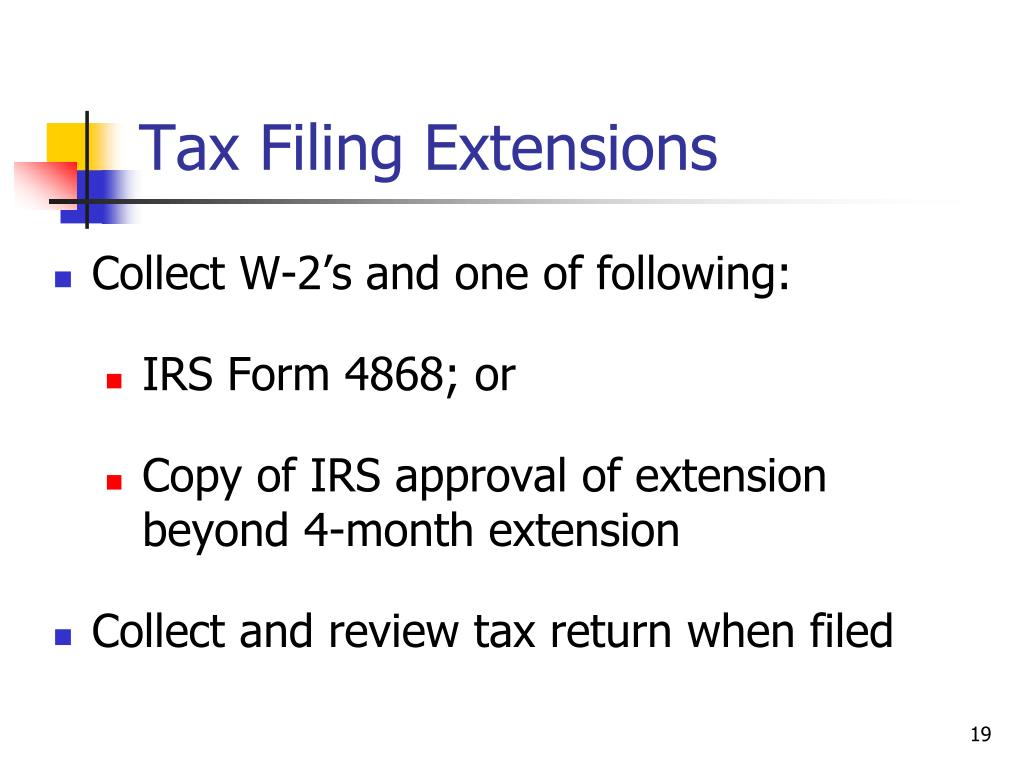 Tax Filing Extensions