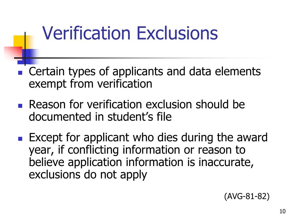 Verification Exclusions