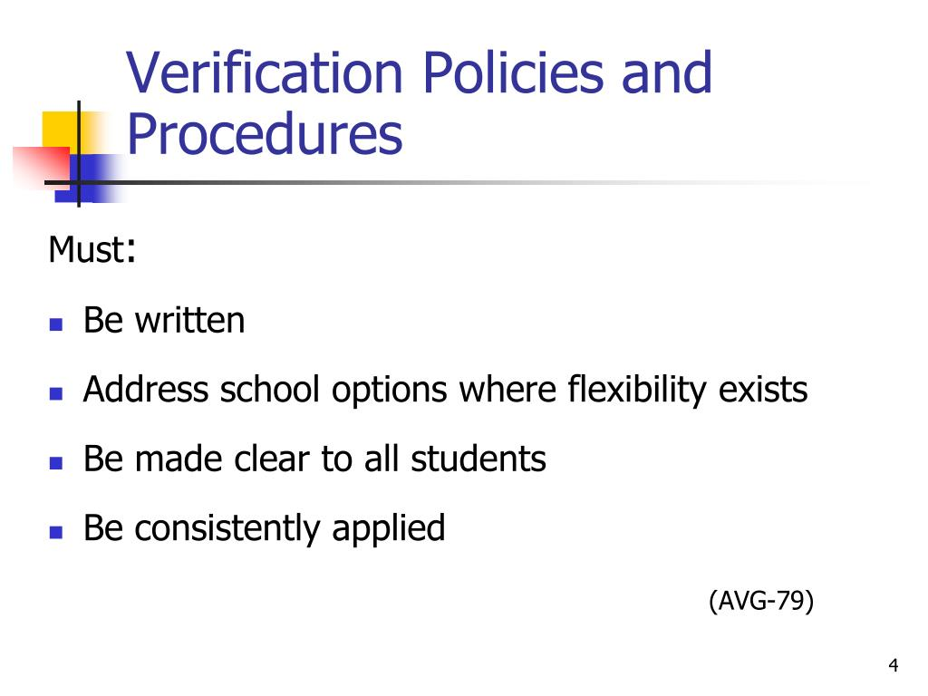 Verification Policies and