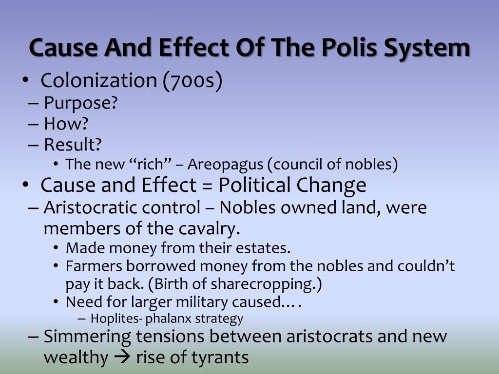 Cause And Effect Of The Polis System