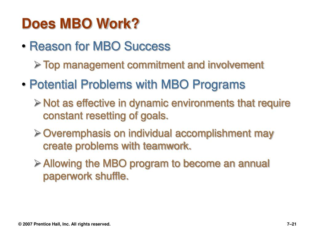 Does MBO Work?