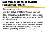 beneficial uses of harrf reclaimed water