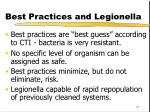 best practices and legionella
