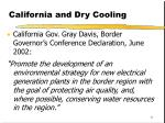 california and dry cooling