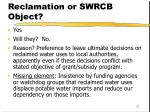 can bureau of reclamation or swrcb object