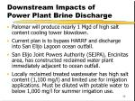 downstream impacts of power plant brine discharge
