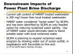downstream impacts of power plant brine discharge1