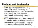 england and legionella