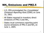 nh 3 emissions and pm2 5