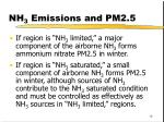 nh 3 emissions and pm2 51