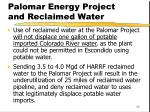 palomar energy project and reclaimed water