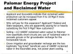 palomar energy project and reclaimed water1