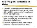 removing nh 3 in reclaimed water