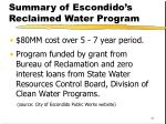 summary of escondido s reclaimed water program