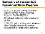summary of escondido s reclaimed water program1