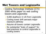 wet towers and legionella