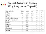 tourist arrivals in turkey why they come part1