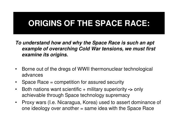 Origins of the space race