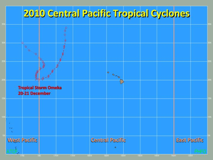 2010 Central Pacific Tropical Cyclones