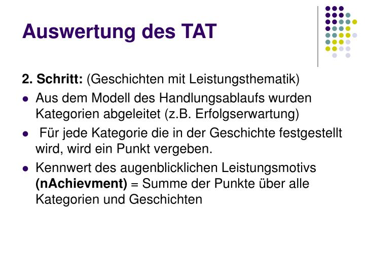 Auswertung des TAT